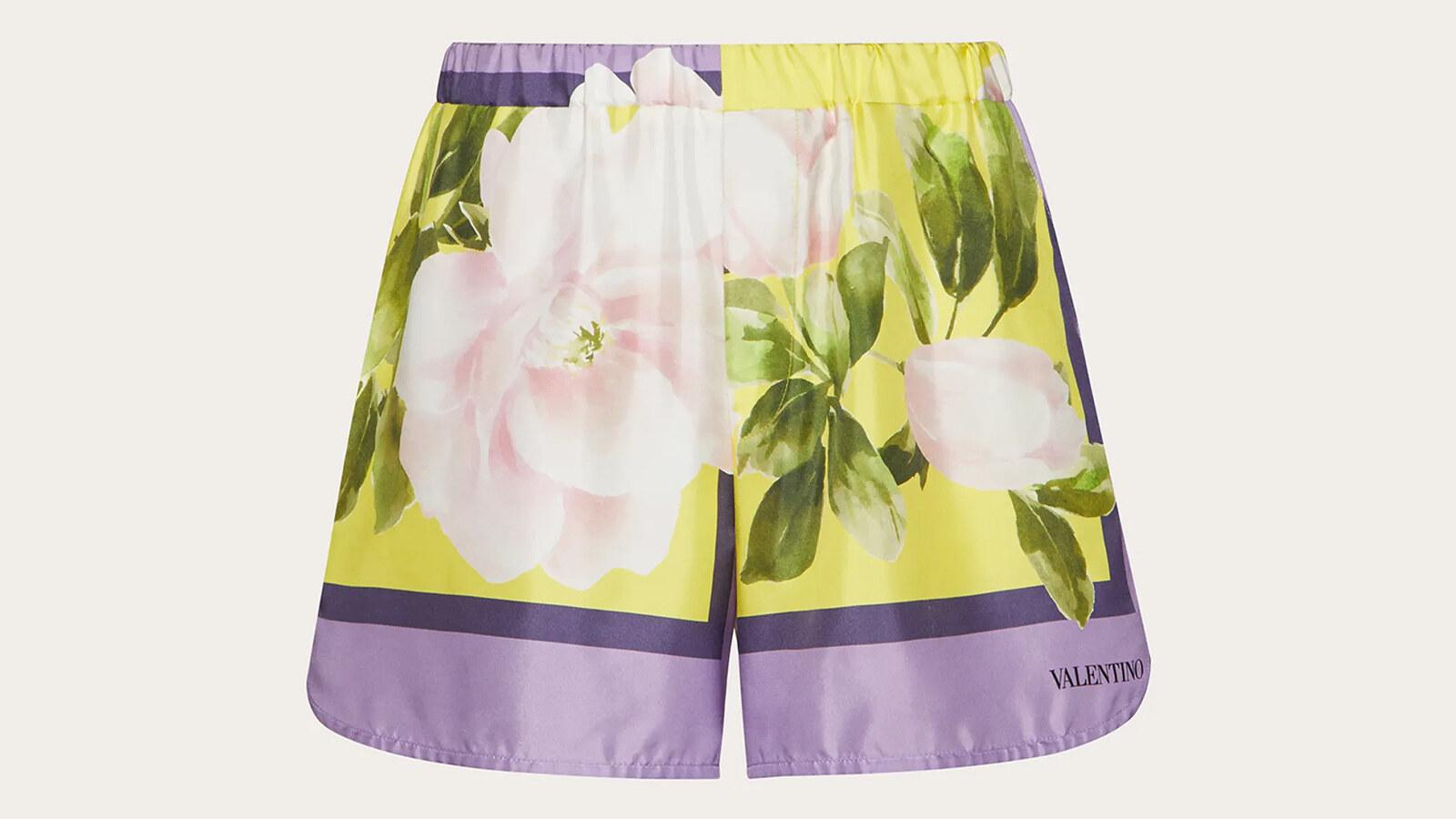 Valentino - bermuda con stampa flying flowers