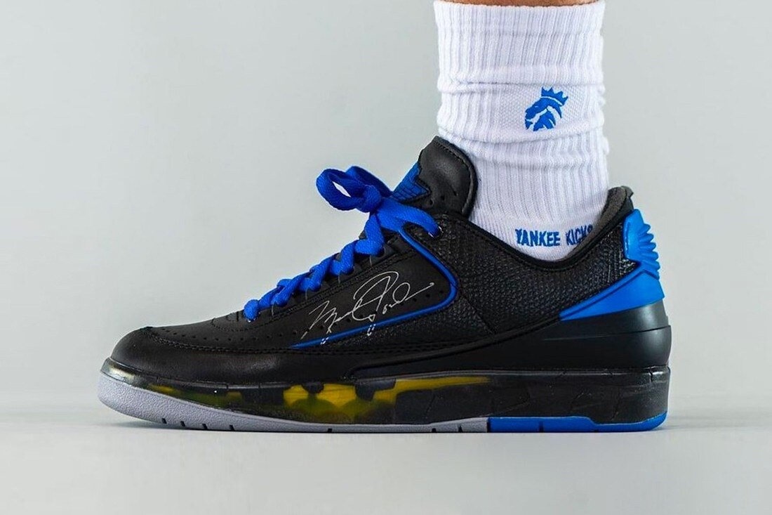 Off-White x Air Jordan 2 Black Blue