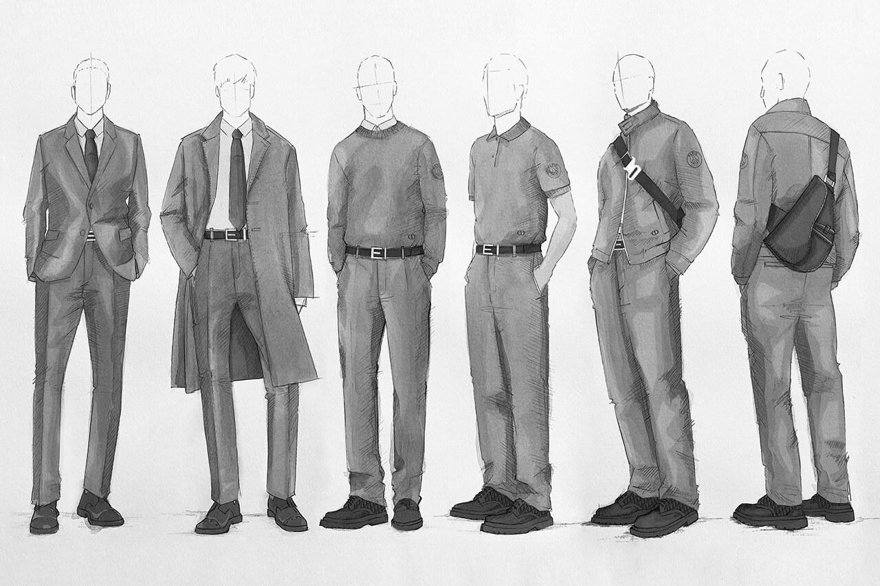 dior psg formalwear
