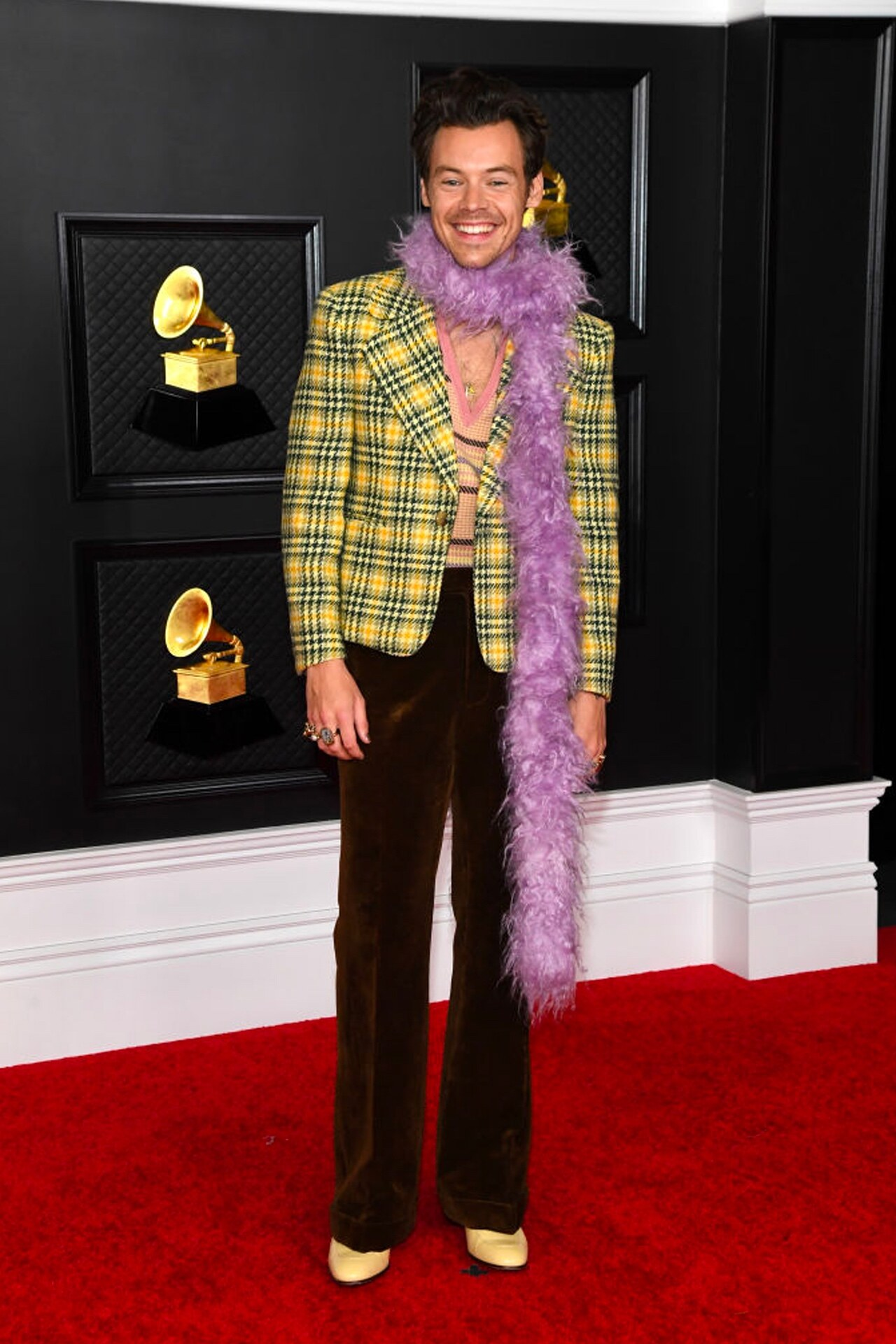 Harry Styles Grammy 2021 Gucci
