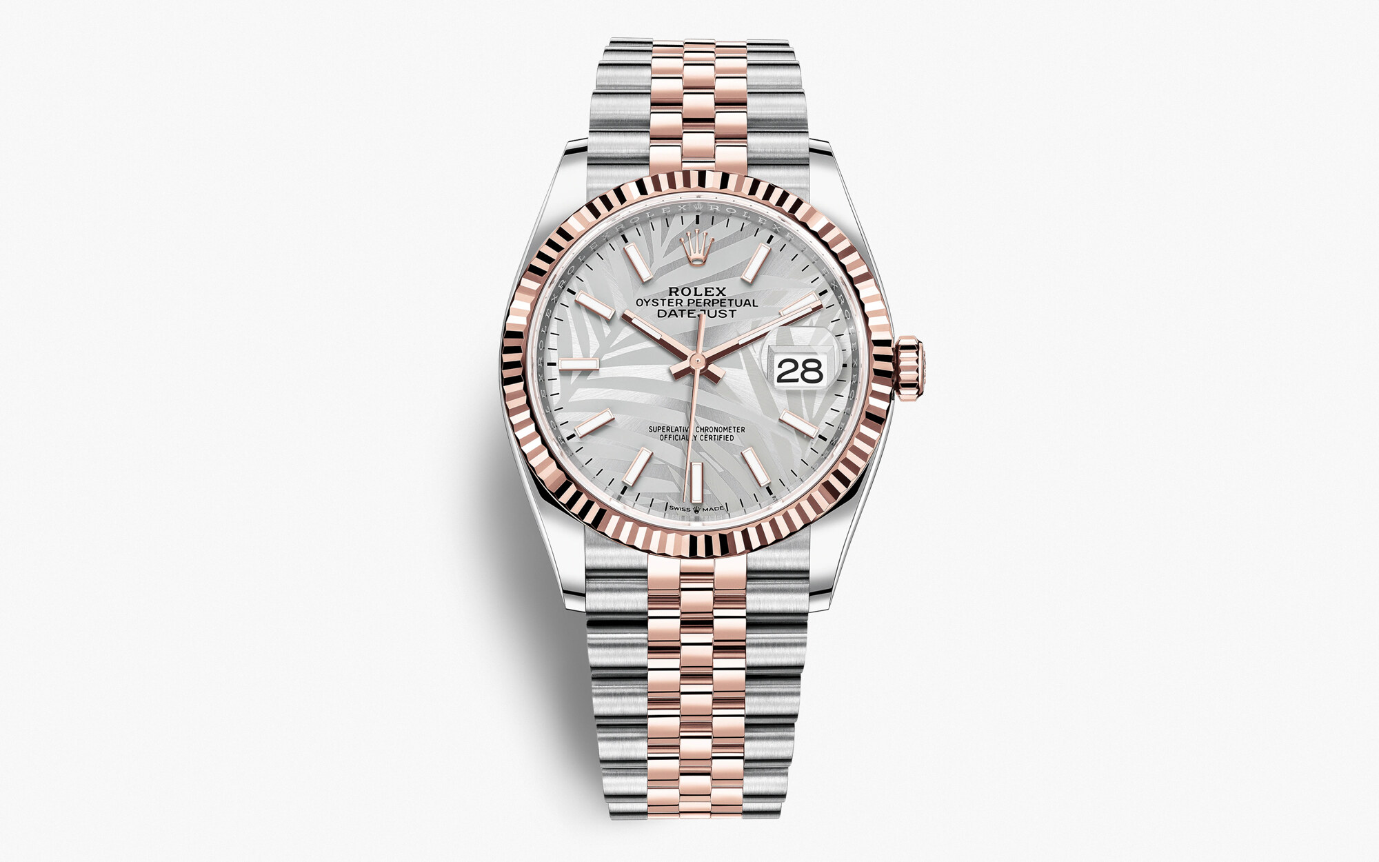 Rolex Datejust 36 2021 Oyster, 36 mm, acciaio Oystersteel e oro Everose