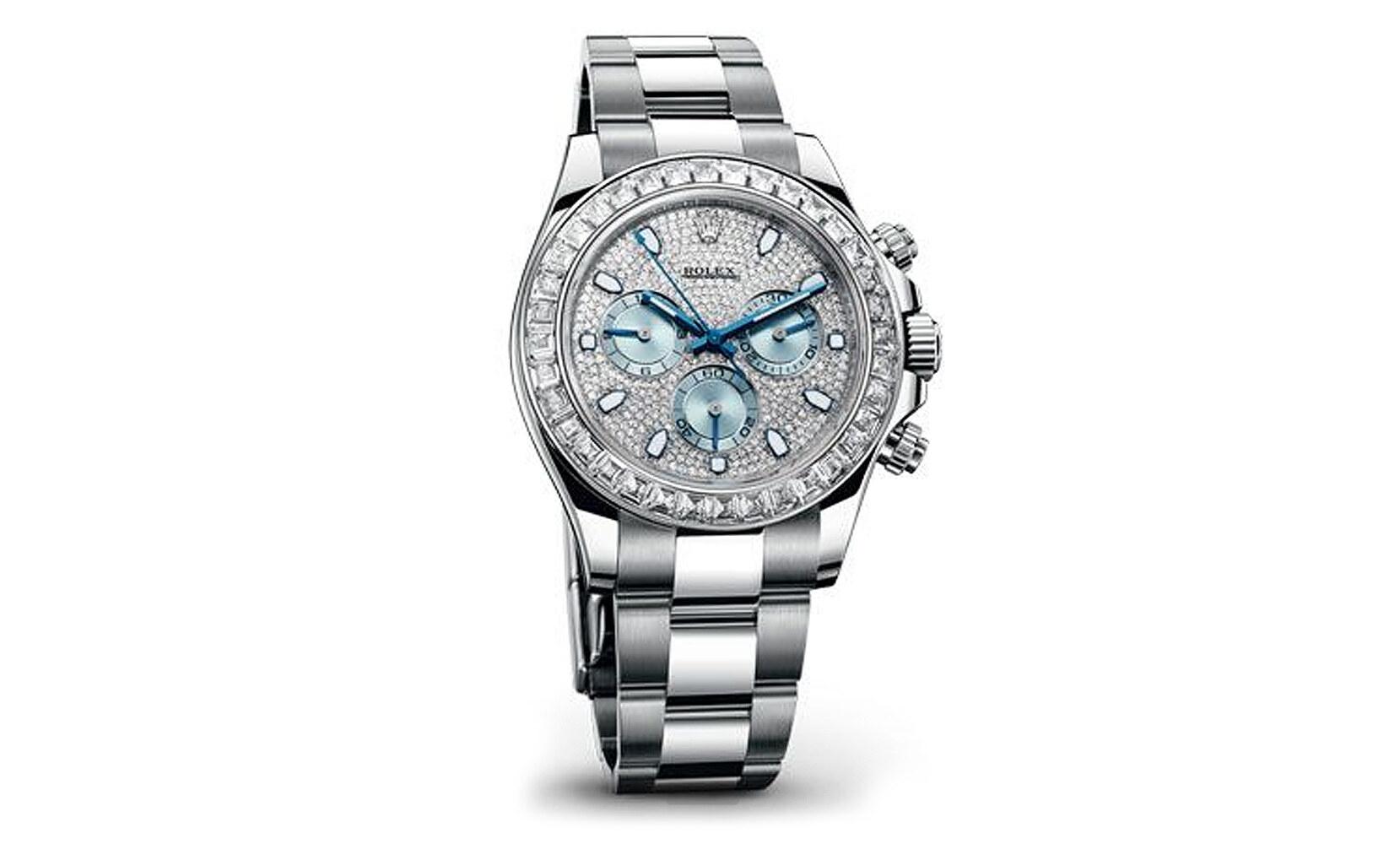 Rolex Cosmograph Daytona in platino e diamanti