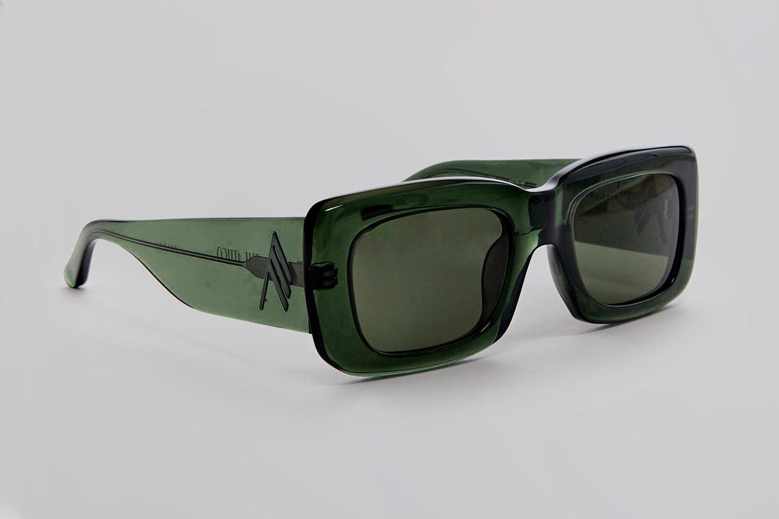 The Attico Occhiali Marfa military green