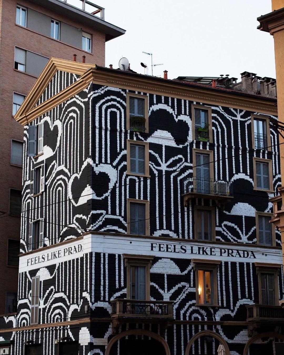 Prada Murale Via Spallanzani Milano