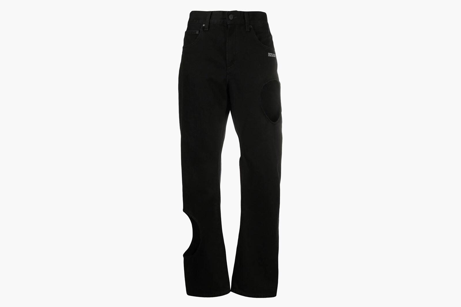 Off-White holes baggy pants