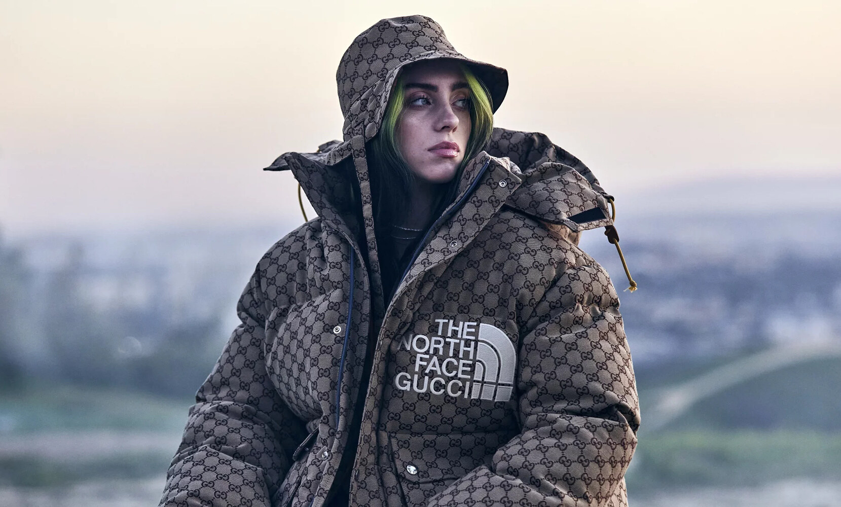 Bilie Eilish Gucci x The North Face