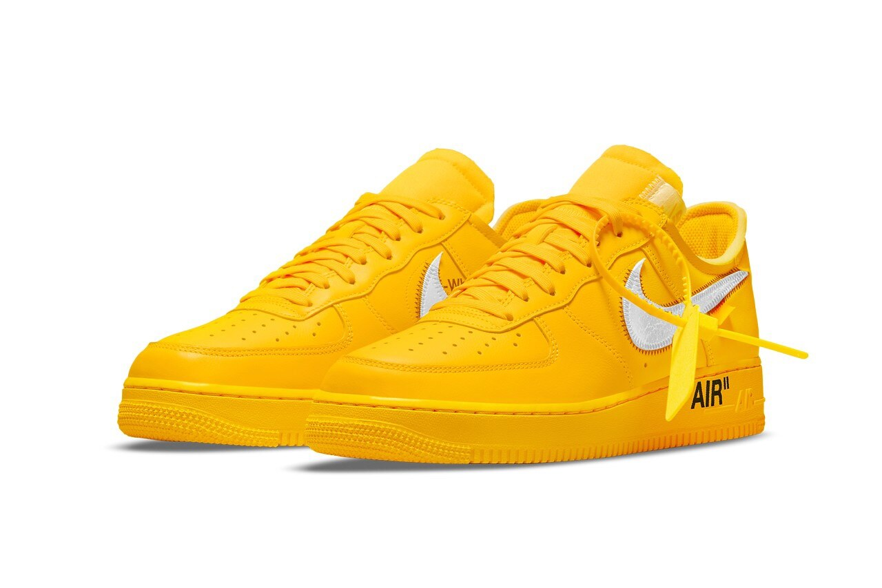 Off-White x Nike Air Force 1 University Gold