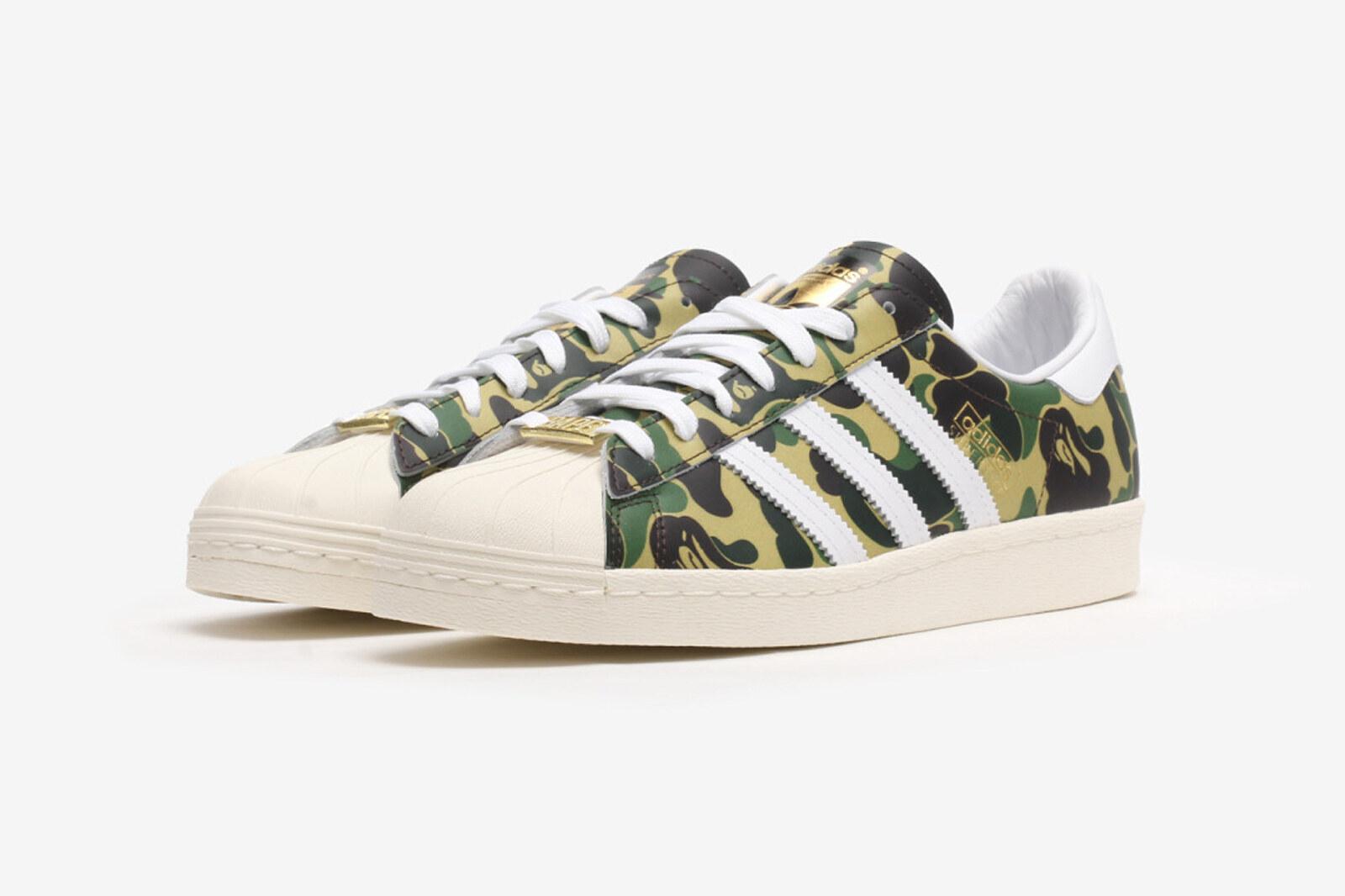 BAPE x adidas Superstar Green Camo