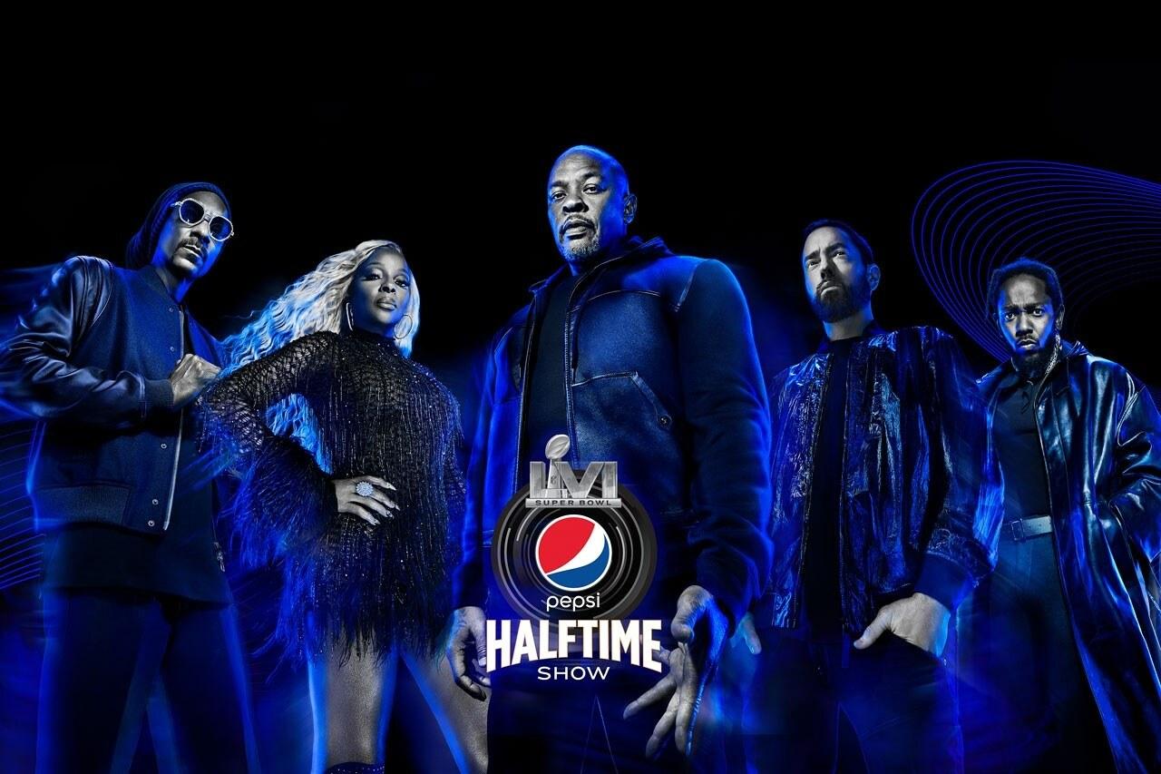 Dr Dre Snoop Dogg Kendrick Lamar Eminem Mary J Blidge Super Bowl 2022