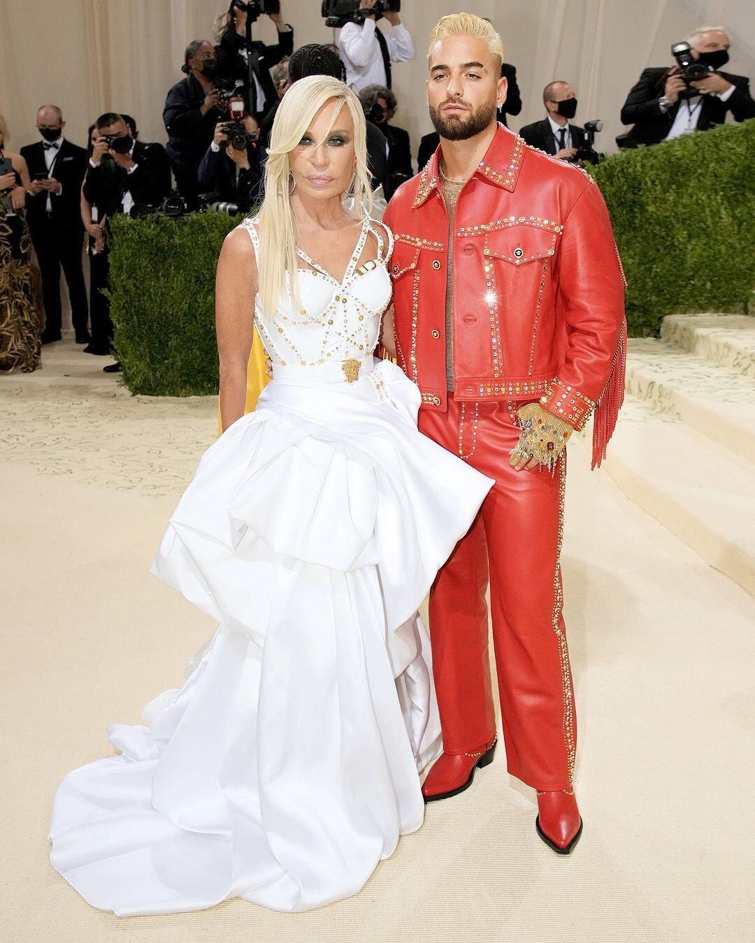 Donatella Versace e Maluma Versace Met Gala 2021