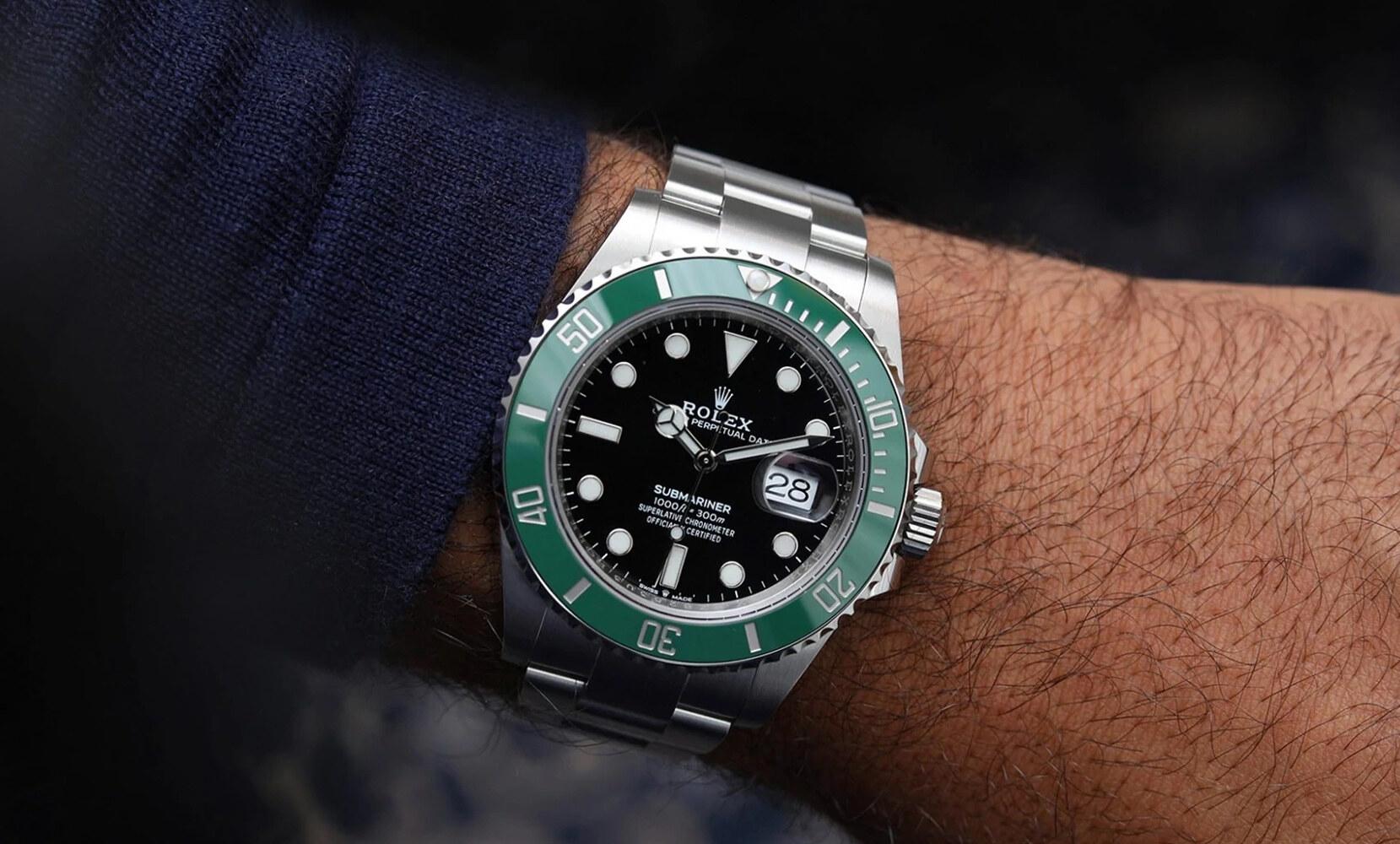 Rolex Submariner Date Oystersteel ghiera verde