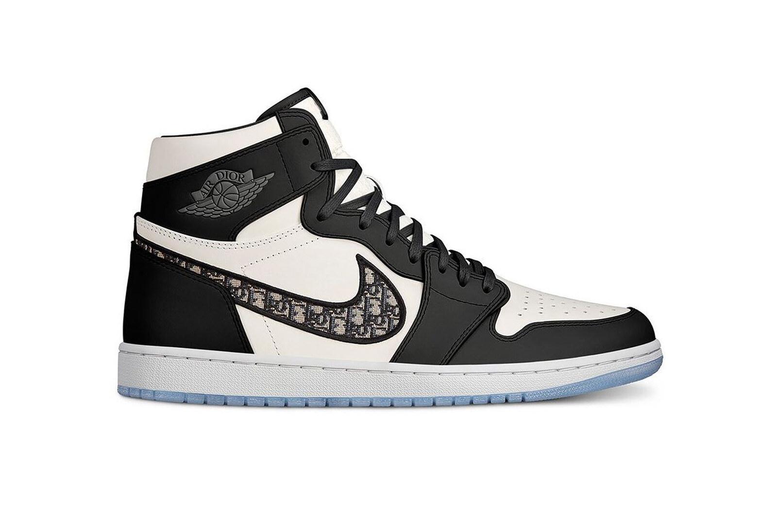 Dior x Air Jordan 1 Black and White