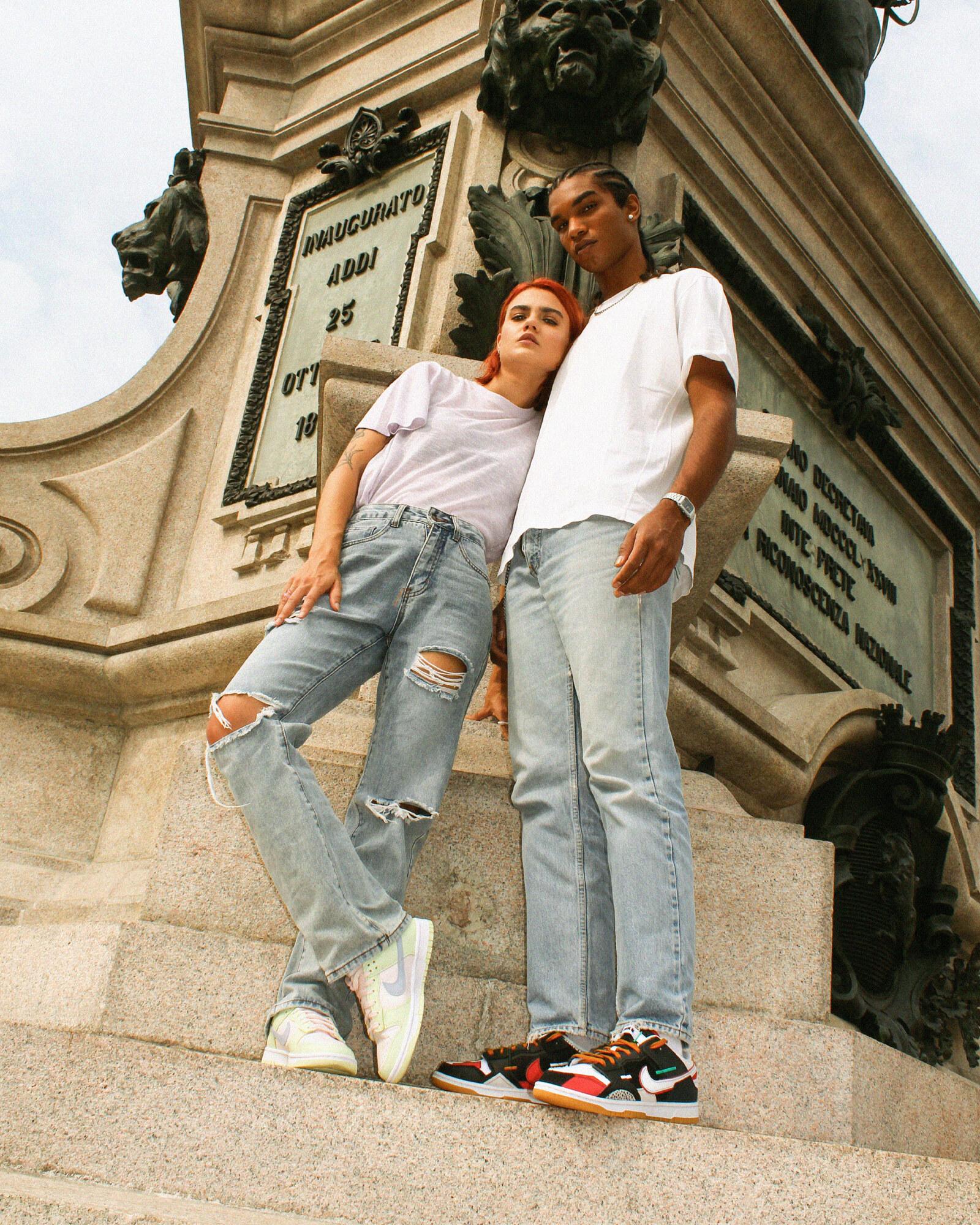 Nike Dunk Low Light Bone e Scarp