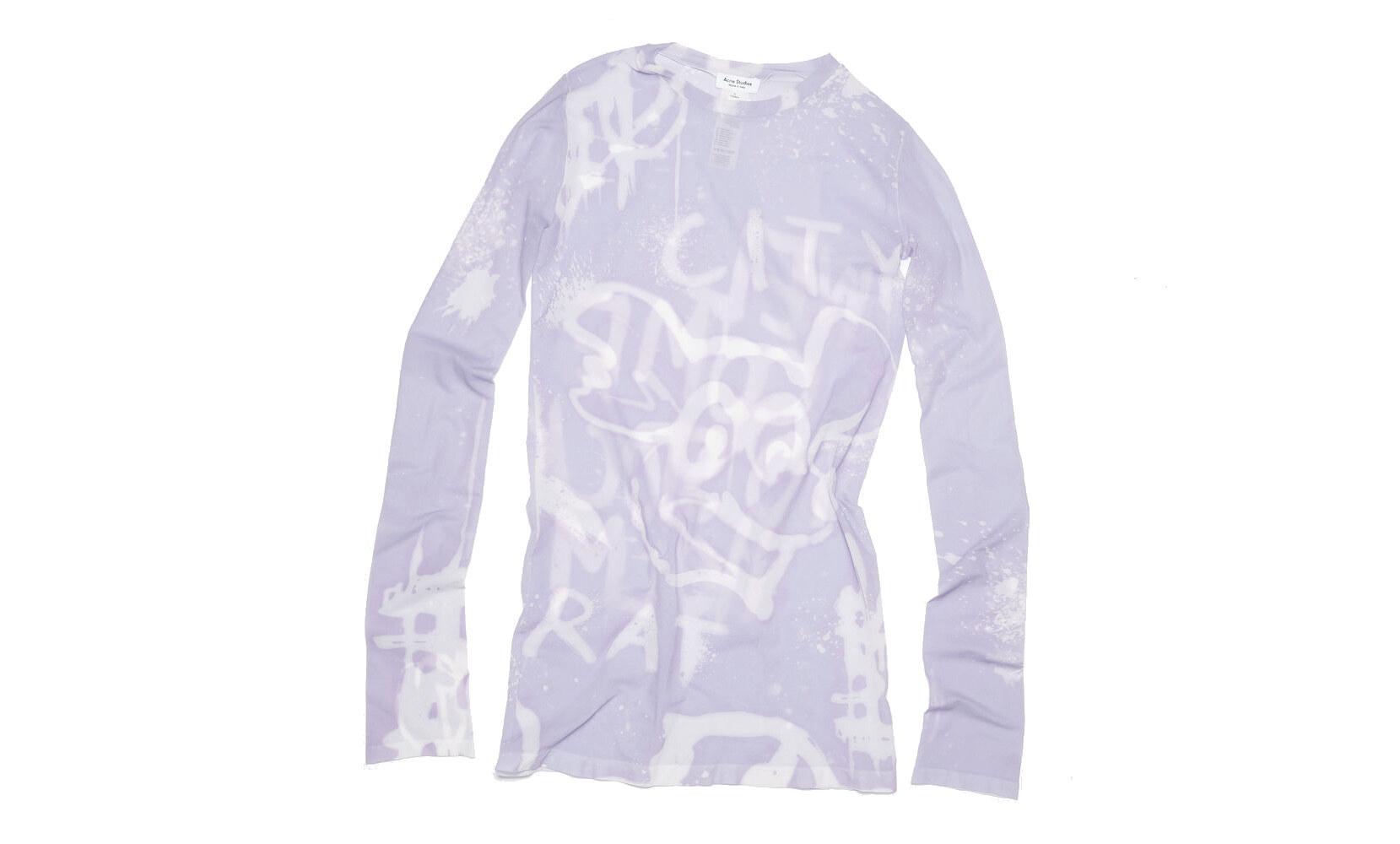 Acne Studios Long sleeve t-shirt lilac purple