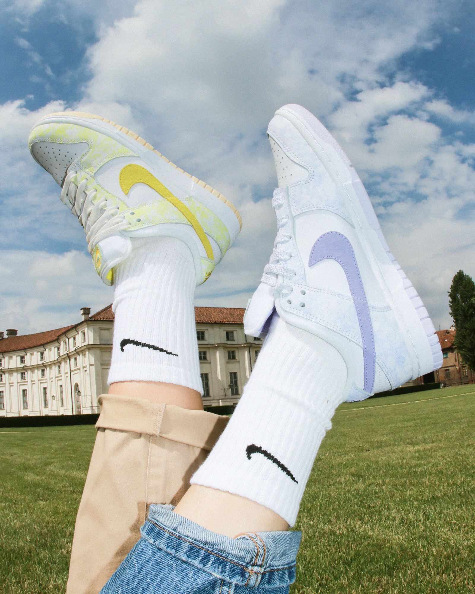 Nike Dunk Low Purple Pulse - Yellow Strike