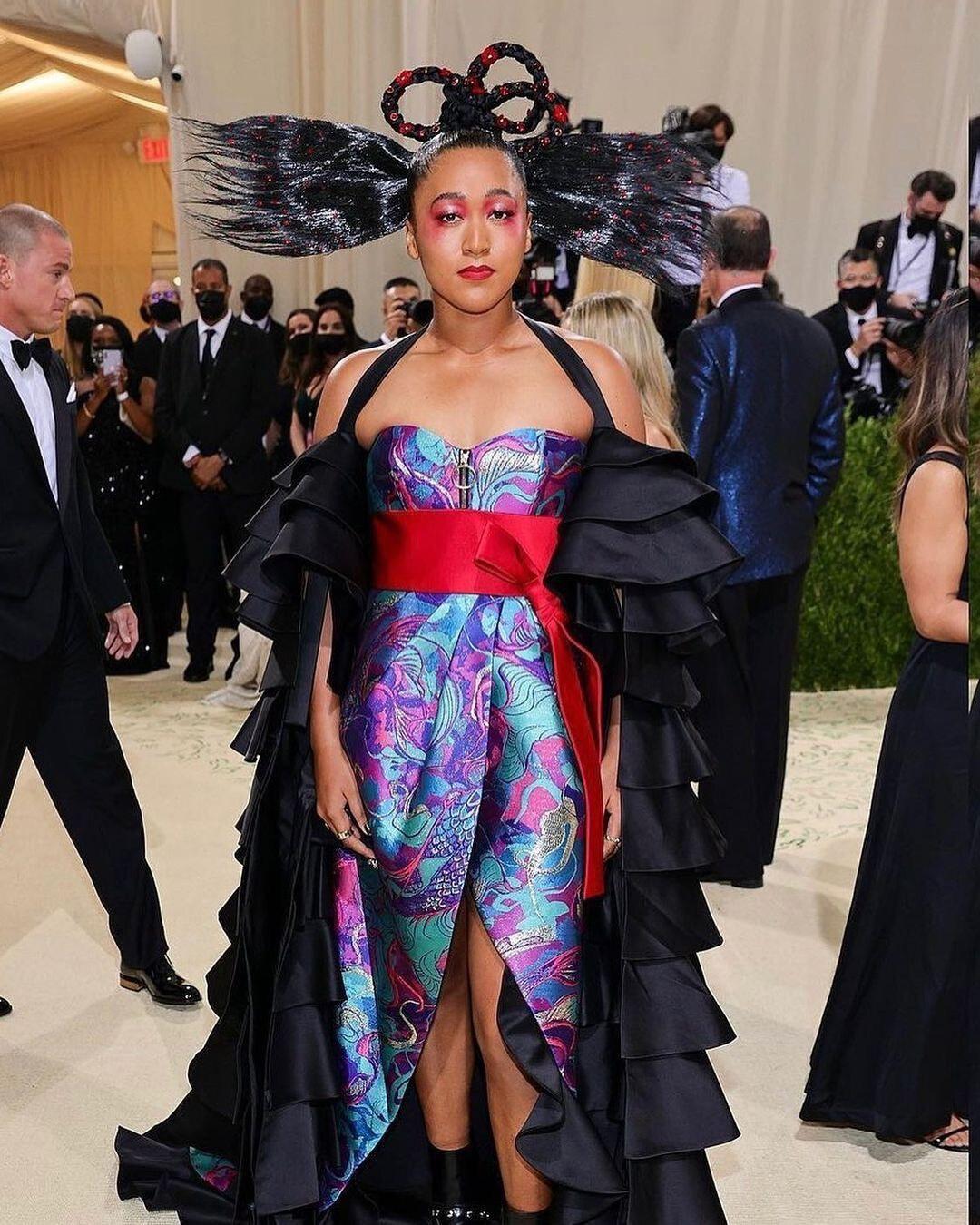 Naomi Osaka Louis Vuitton Met Gala 2021