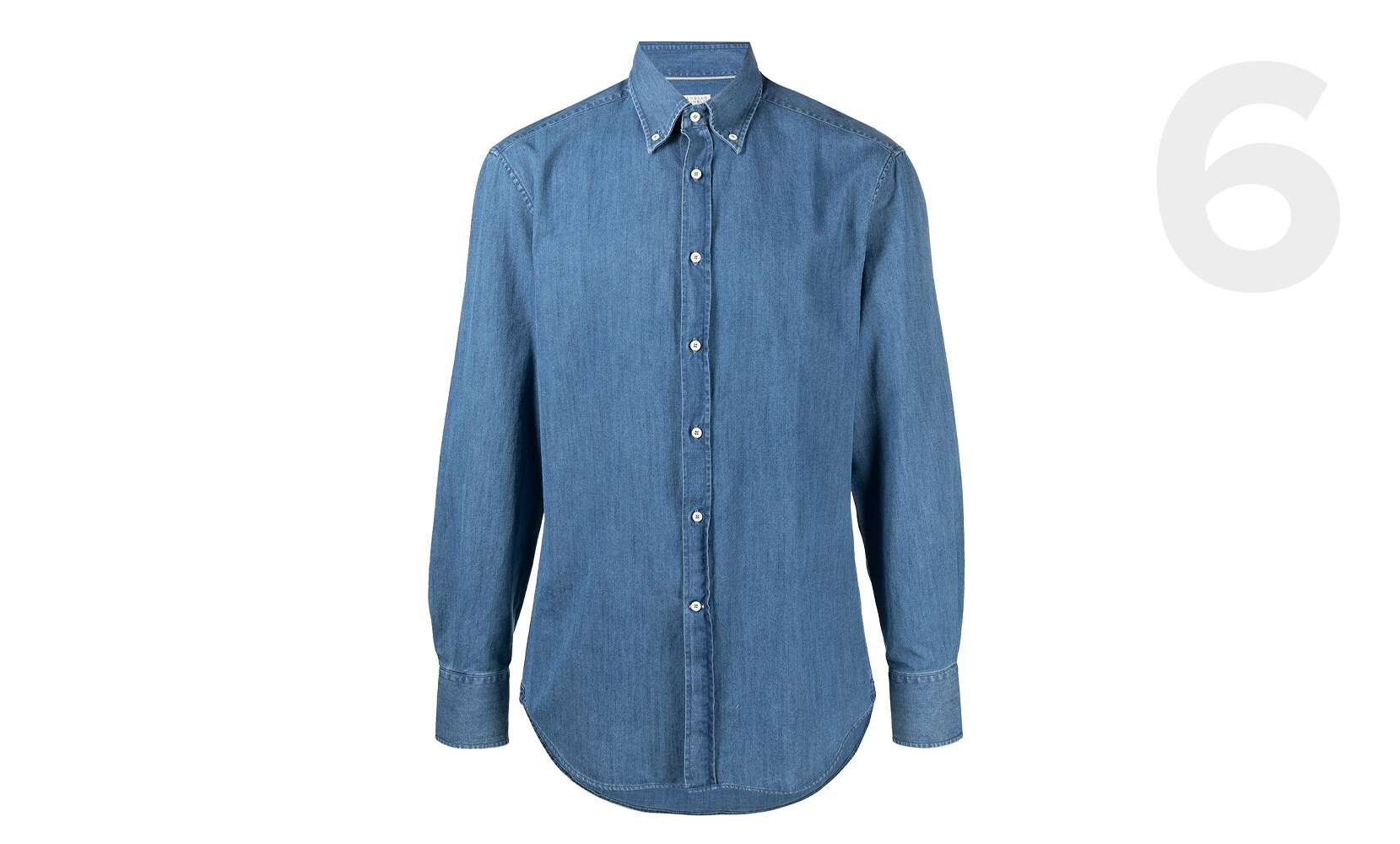 Brunello Cucinelli button-down denim shirt
