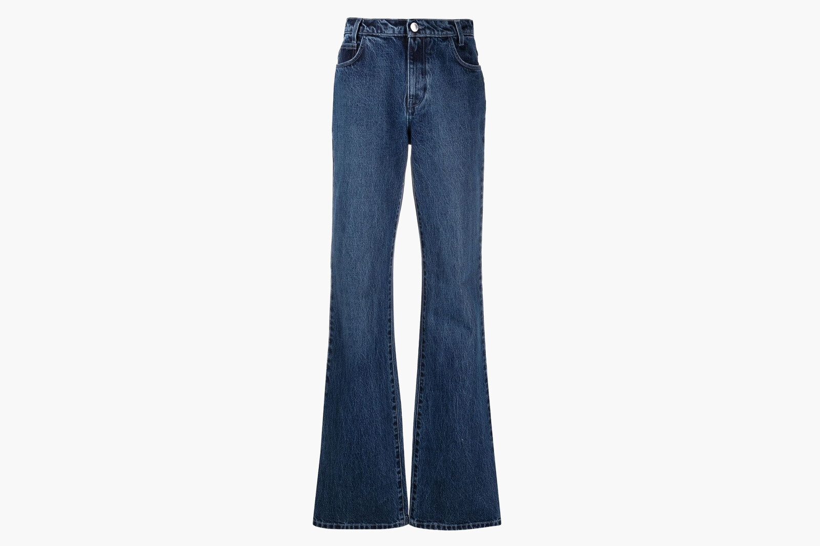 Raf Simons women's blue flared denim pants