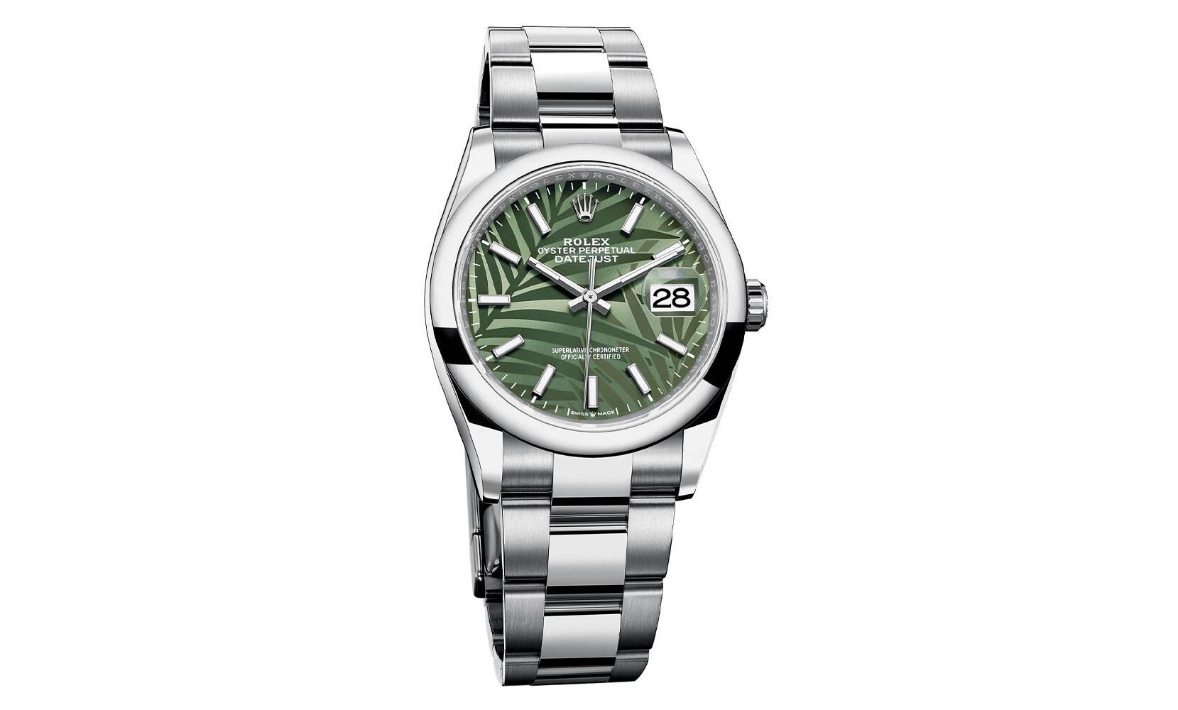 Rolex Datejust Palm Motif