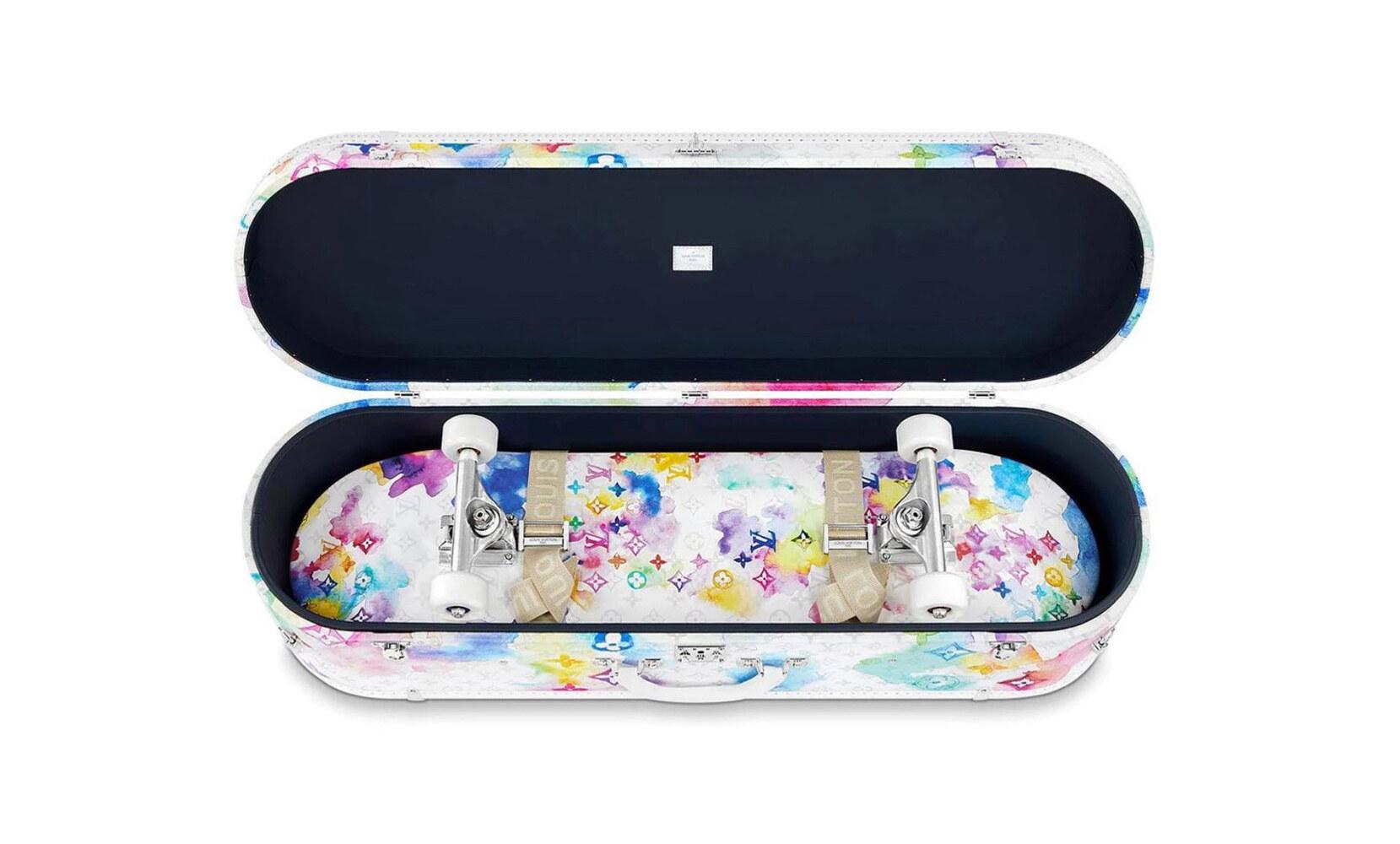 Louis Vuitton Skateboard Trunk Watercolor SS21