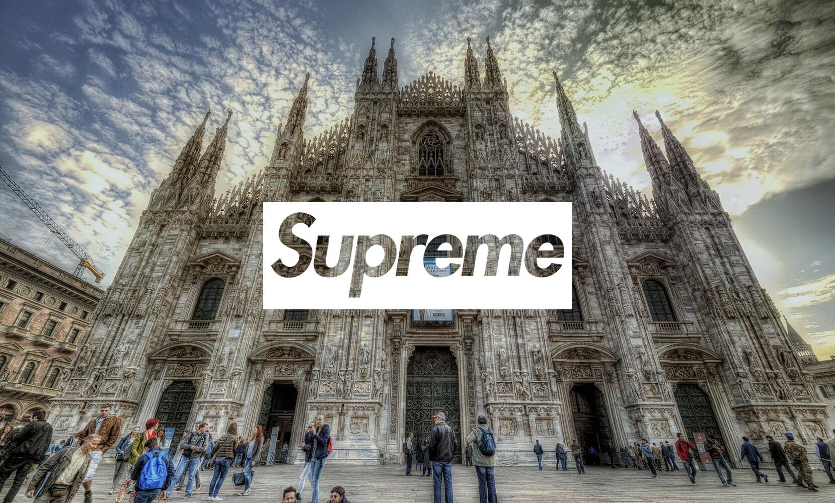 Supreme store Milano Box Logo