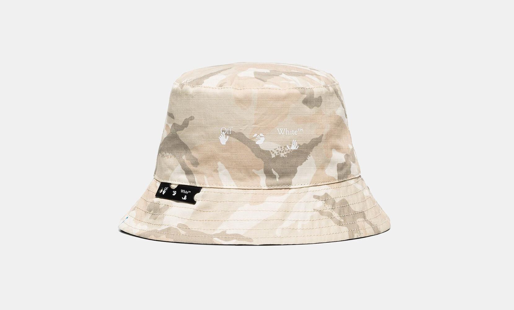Off-White Cappello Bucket con stampa camouflage