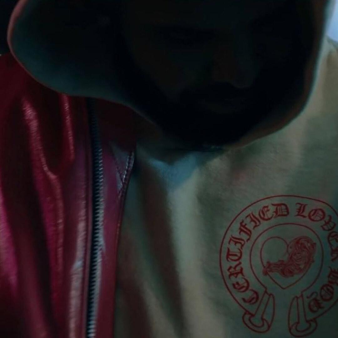 "Drake ""What's Next"" Chrome Hearts hoodie logo"