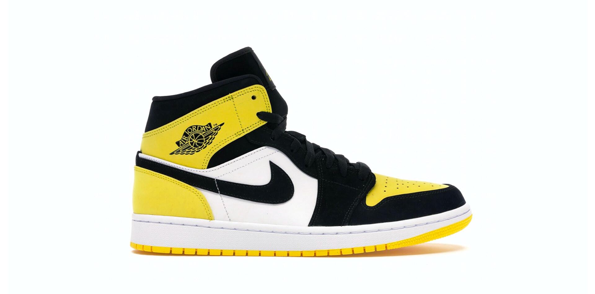 Air Jordan 1 Mid Yellow Toe